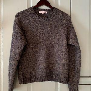 INEZ DE LA FRESSANGE  Wool Blend Marled Sweatsr